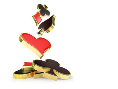 ゴールド フレームの立ち火かき棒カード シンボル