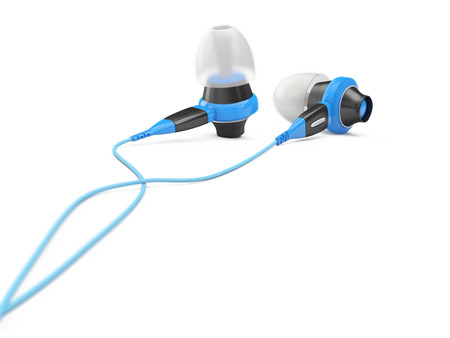 digital music: concept of digital music modern earphones