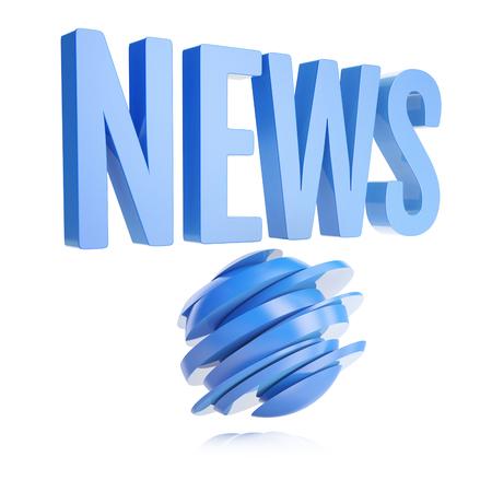 globe logo: blue news logo with abstract globe isolated on white background
