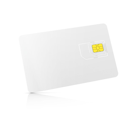 starter: blank 3-in-1 SIM card starter kit, ready for your design, front view isolated on white background with soft shadows