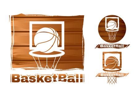canestro basket: set di etichette di basket