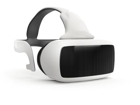 白い背景の上の仮想現実のヘッドセット