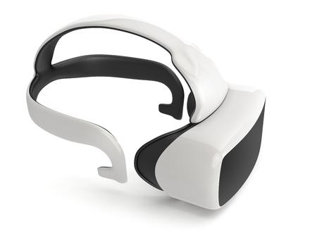 virtual reality headset on white background Stock Photo