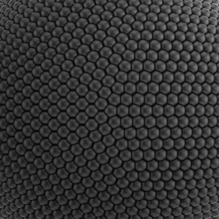 esfera: Ilustración 3D del patrón o la textura que consiste en esferas negras