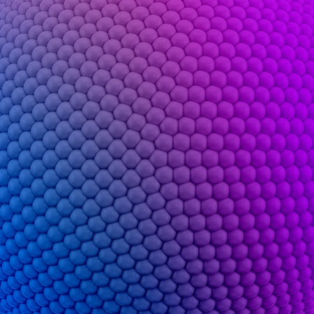 ordered: 3D illustration of colorful pattern or texture consisting of spheres