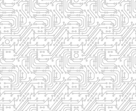 Printplaat achtergrond afbeelding van abstracte moederbord. Naadloos patroon.