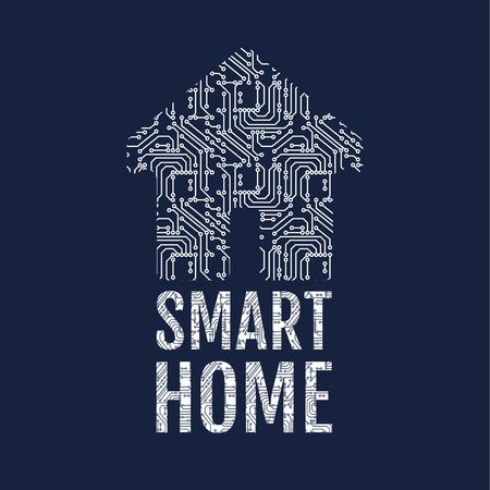 internet mark: Smart home illustration. Illustration
