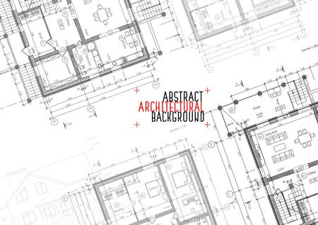 architectural drawings: Architectural drawings on white background. Vector illustration Illustration