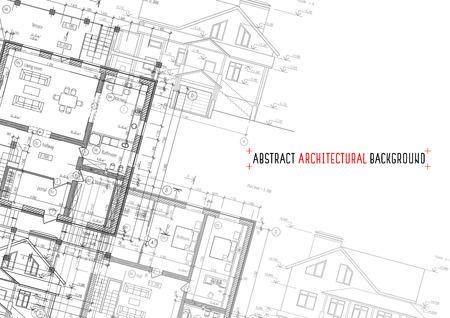 Dessins d'architecture sur fond blanc. Vector illustration Vecteurs