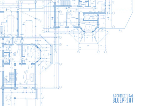Blank blueprint paper for drafting drawing sheet layout with architectural drawings on light background vector illustration vector malvernweather Images