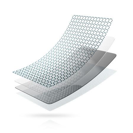 Concept de matériel d'auto-guérison. 3D illustration isolé sur fond blanc.