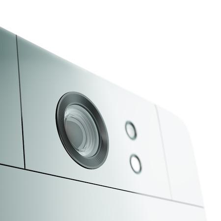glossiness: Smartphone camera close-up. 3D illustration