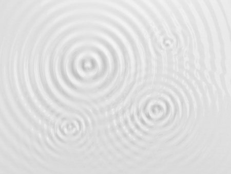 ripple effect: Ripples on a white liquid surface, milk or cream texture. 3D illustration. Abstract background.