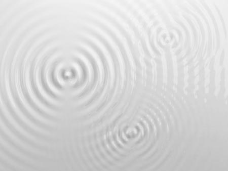 Rimpelingen op een wit vloeibaar oppervlak, melk of room textuur. 3D illustratie. Abstracte achtergrond. Stockfoto