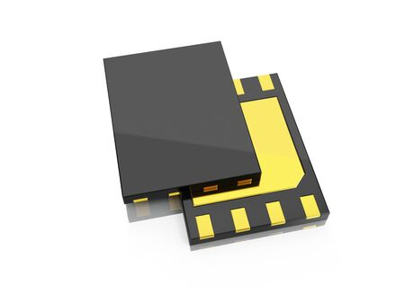 eSim card,  front view and blank rear side ready for your design. 3d illustration. Stok Fotoğraf