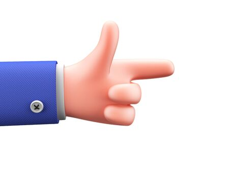 Finger snapping. Cartoon hand showing easy on white background. 3d render.