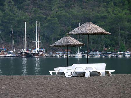 turkiye: Little bay on sundown Stock Photo