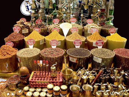 Spices on the spice bazaar Istanbul,Turkey photo