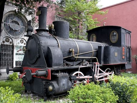 Steam engine at a railway museum Stock Photo - 3079179