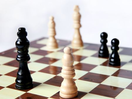 Chess game; Black has advantage Stock Photo - 3109049
