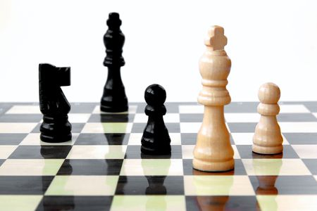 conqueror: Chess game; Check.. Stock Photo