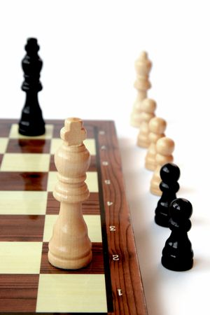 Chess pieces - It's about to drawn Stock Photo - 3109051