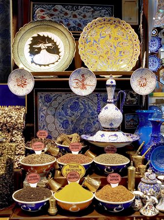 Souvenirs van Istanbul Grand Bazaar