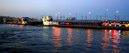 Gate of Golden Horn; Galata Bridge - Istanbul photo
