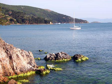 marmara: Rocky shore of the Marmara Sea in Turkey