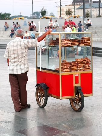 Turkish bagel peddler