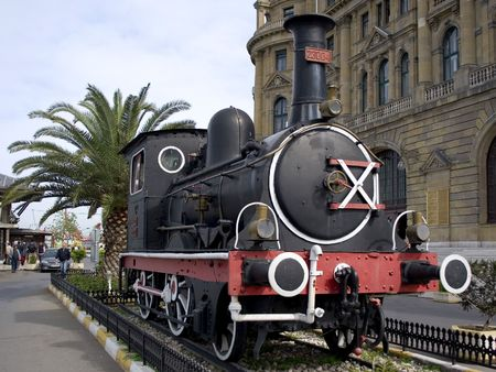 Vintage steam engine at railway museum. Haydarpasa - Istanbul photo