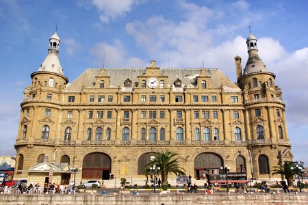 Central station building. Haydarpasa - Istanbul photo