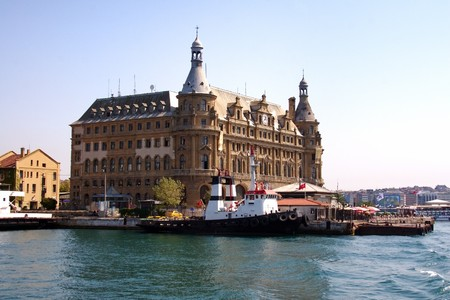 Central station building. End point of Baghdad-Istanbul railway. Haydarpasa - Turkey photo