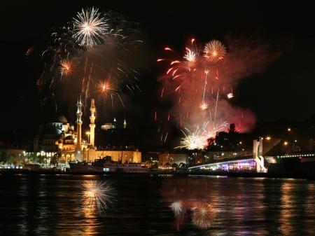 Fireworks op Istanboel