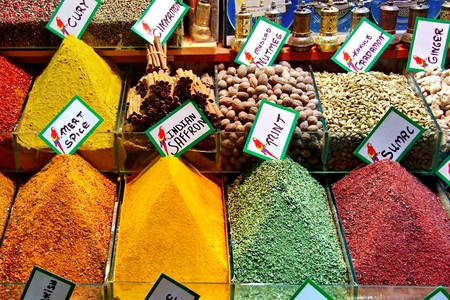 Spices on retail market - Istanbul photo