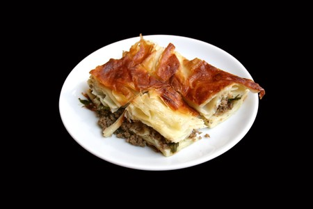 mince pie: Mince pie plate Stock Photo