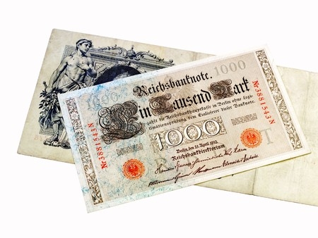 deutschemarks: Old banknotes Stock Photo