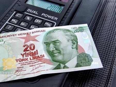 Twenty Lira on black Stock Photo - 4467117