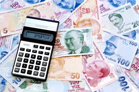 Calculator on money photo