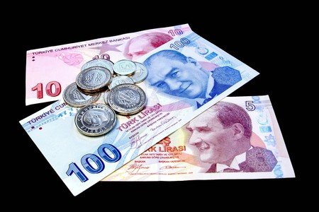 Money on black Stock Photo - 4467116
