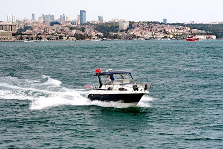 bosporus: Speedboat on Bosporus