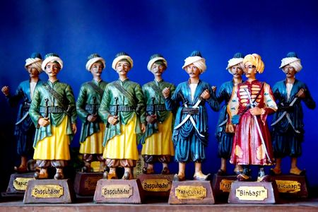 trooper: Vintage toy soldiers Stock Photo