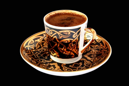 Turkish Coffee on black