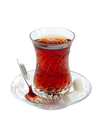 Crystalline glass of Turkish tea