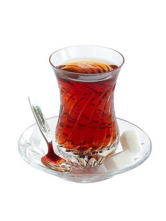 Kristallijn glaasje Turkse thee Stockfoto