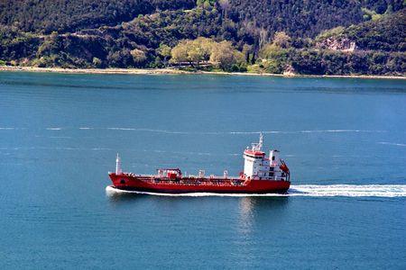 bosporus: Ship entering to Bosporus
