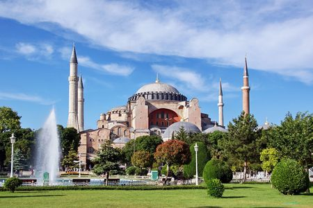 Hagia Sophia, famous historical building of the Istanbul Stock Photo