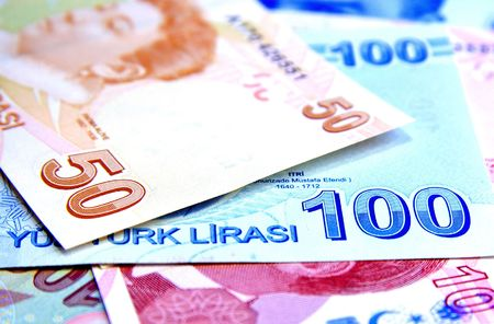 turkish lira: Money background