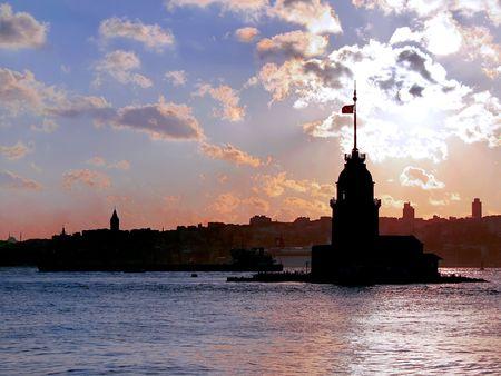 deniz: Historical beacon in Istanbul