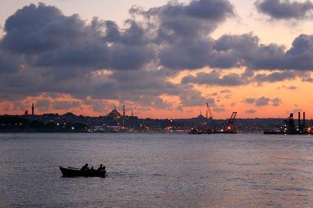 bosporus: Istanbul cityscape on Bosporus Stock Photo